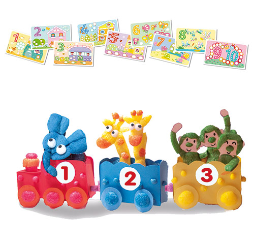 PlayMais Card set Fun to learn NUMBERS